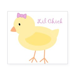 Lil Chick Rectangle Beer Label