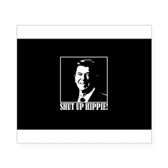 "Ronald Reagan says ""SHUT UP HIPPIE!"" Beer Label"