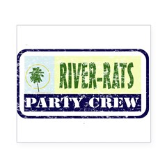 River Rat Rectangle Beer Label