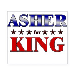 ASHER for king Rectangle Beer Label