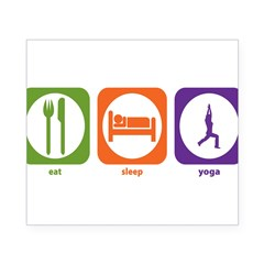 Eat Sleep Yoga Rectangle Beer Label