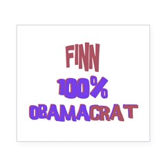 Finn - 100% Obamacrat Rectangle Beer Label