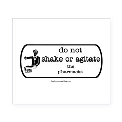 Do not shake or agitate pharm Rectangle Beer Label