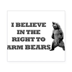Right To Arm Bears Rectangle Beer Label