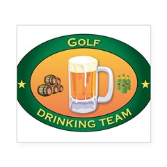 Golf Team Rectangle Beer Label