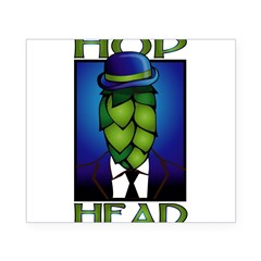 Hop Head Rectangle Beer Label