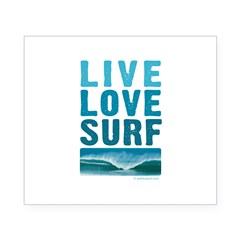 Live, Love, Surf - Rectangle Beer Label