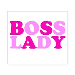 BOSS LADY pink Rectangle Beer Label
