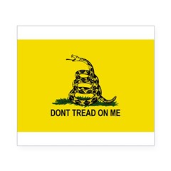 Gadsden Flag Oval Beer Label