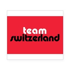 Team Switzerland Rectangle Beer Label