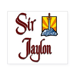 Sir Jaylon Rectangle Beer Label