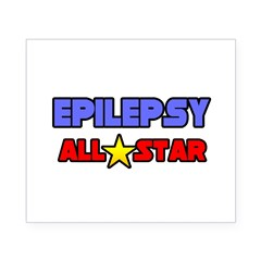 """Epilepsy All Star"" Rectangle Beer Label"