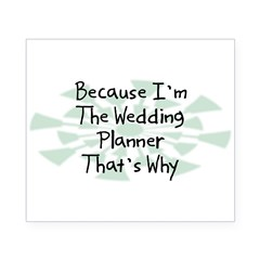 Because Wedding Planner Rectangle Beer Label