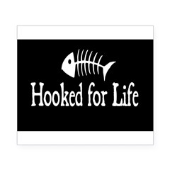 Hooked for Life Oval Beer Label