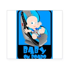 Baby Onboard - Blue Rectangle Beer Label