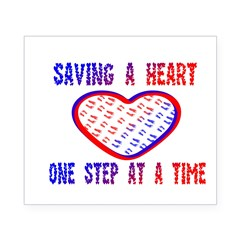 Walk to save a heart Rectangle Beer Label