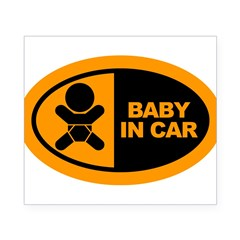 Baby in Car Safety Sticker for Car Beer Label
