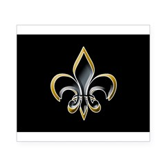 Fleur de Lis on BLK Oval Beer Label