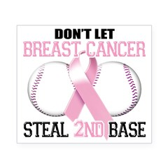 Don't Let Breast Cancer Steal 2nd Base Beer Label