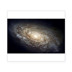 NGC 4414 Spiral Galaxy Oval Beer Label