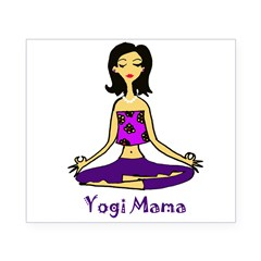 Yogi Mama Rectangle Beer Label