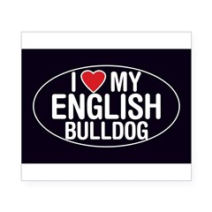 I Love My English Bulldog Oval Sticker/Decal Beer Label