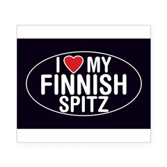 I Love My Finnish Spitz Oval Sticker/Decal Beer Label