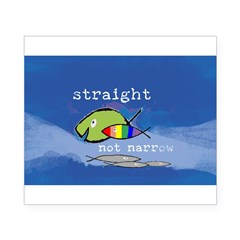 Straight But Not Narrow Oval Beer Label