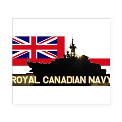Royal Canadian Navy Rectangle Beer Label