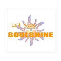 Let Your Soulshine Oval Beer Label