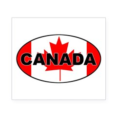 Canadian Flag Oval Beer Label