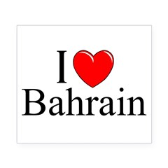 """I Love Bahrain"" Rectangle Beer Label"