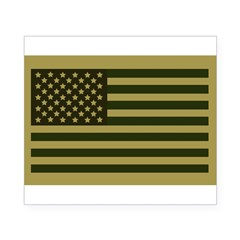American Flag Sticker (Drab) Beer Label