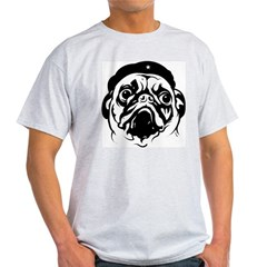 Pug Revolutionary Icon- Ash Grey Light T-Shirt