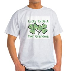 Lucky To Be A Twin Grandma Light T-Shirt