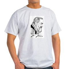 "Padre Pio Signature Grey T-Shirt. ""Pray, Hope"" Light T-Shirt"