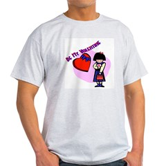 bemyvalentinegirl.bmp Light T-Shirt