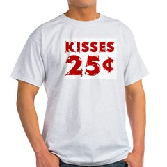 Kisses Ash Grey Light T-Shirt