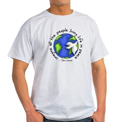Imagine - World - Live in Peace Light T-Shirt