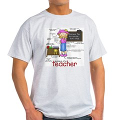 Anatomy of a Teacher Light T-Shirt