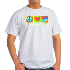 Peace Love Dolphins Light T-Shirt