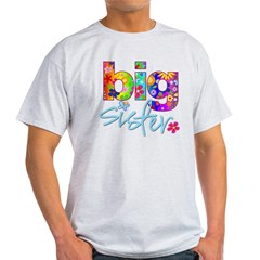 2-big sister flower back Light T-Shirt