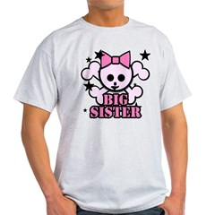 Pink bow skull big sister Light T-Shirt