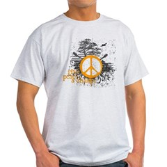 give_peace_scene_orange_dark Light T-Shirt