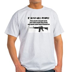 3-Guns dont kill people.jpg Light T-Shirt