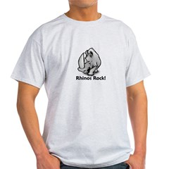 Rhinos Rock! Light T-Shirt