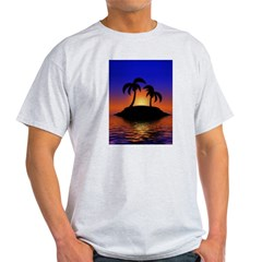 sunrise-sunset--palm-tree-s.jpg Light T-Shirt