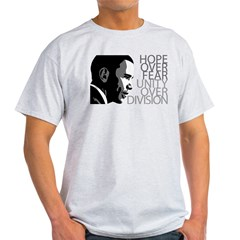 Obama - Hope Over Division - Grey Light T-Shirt