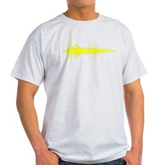 AudioWave_Yellow_1shot Light T-Shirt