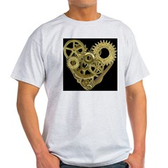 Women's Steampunk Heart T-Shirt (black) Light T-Shirt